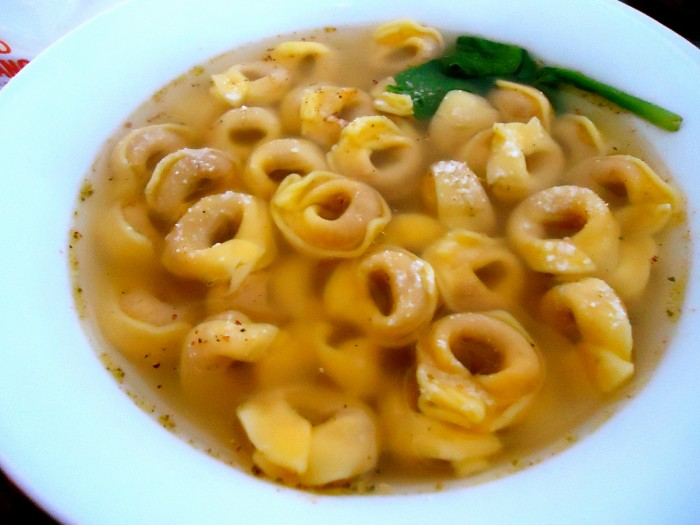 Great soup tortellini in brodo tortellini in a broth delizie